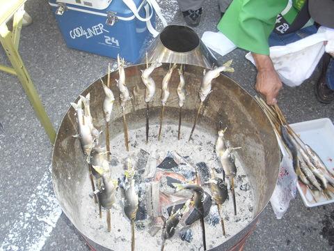 魚沼の食文化(鮎焼き)
